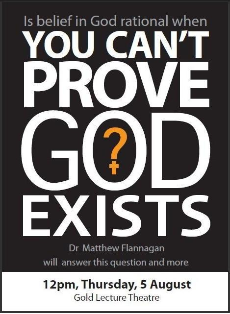 Is belief in God rational when YOU CAN'T PROVE GOD EXISTS?