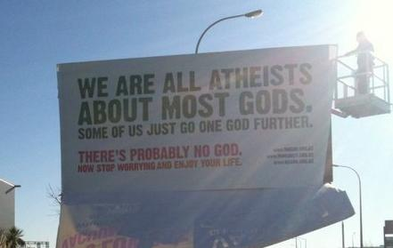 We are all atheists about most gods. Some of us just go one god further.
