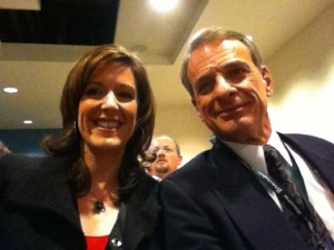 Mary Jo Sharp and William Lane Craig in the audience at my SBL talk