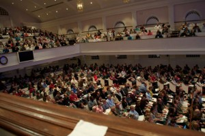 The EPS Apologetics Crowd at Johnson Ferry Baptist Church