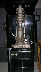 Some ideas can be tested reasonably well e.g. with this early electron microscope. Others await the examination of evidence in different ways.