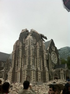 Christchurch's Cathedral after the earthquake
