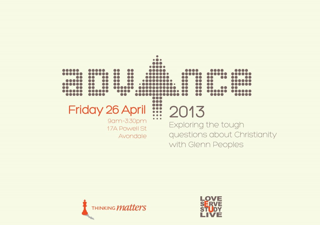 Advance: Exploring Tough Questions About Christianity