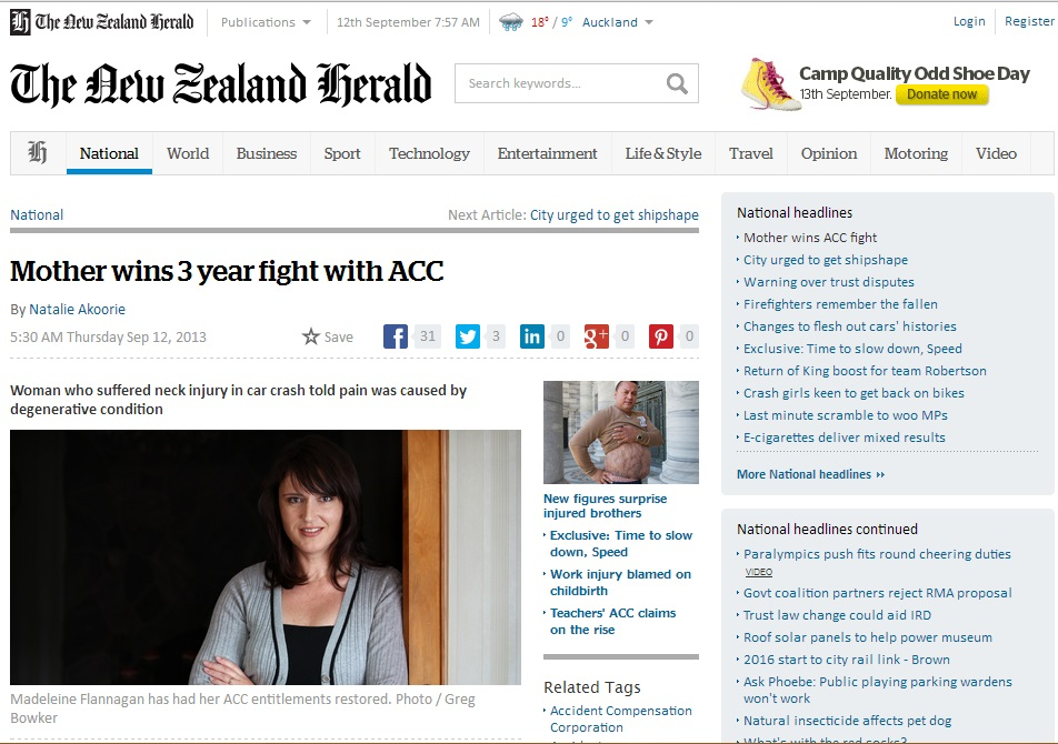 Mother wins 3 year fight with ACC