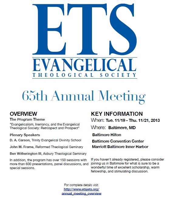 ETS Annual Meeting Flyer