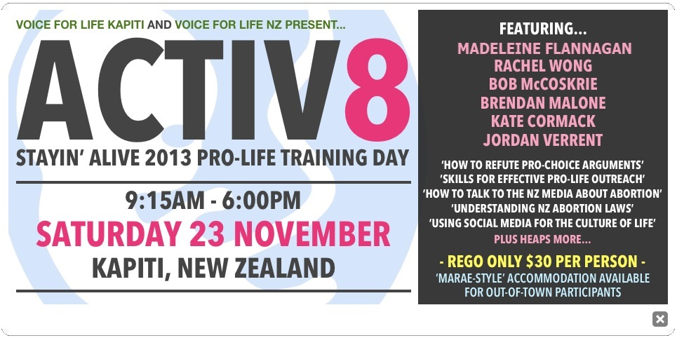 ACTIV8 Pro-Life Training Day 2013