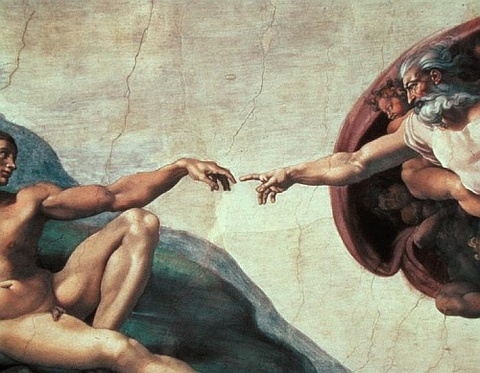 Michelangelo's 'God Creates Adam
